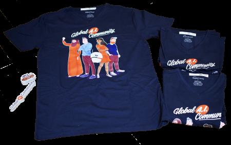 Global AI Community Tシャツやステッカー